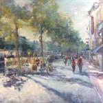 Stadsgezicht LEeuwarden - Olieverf