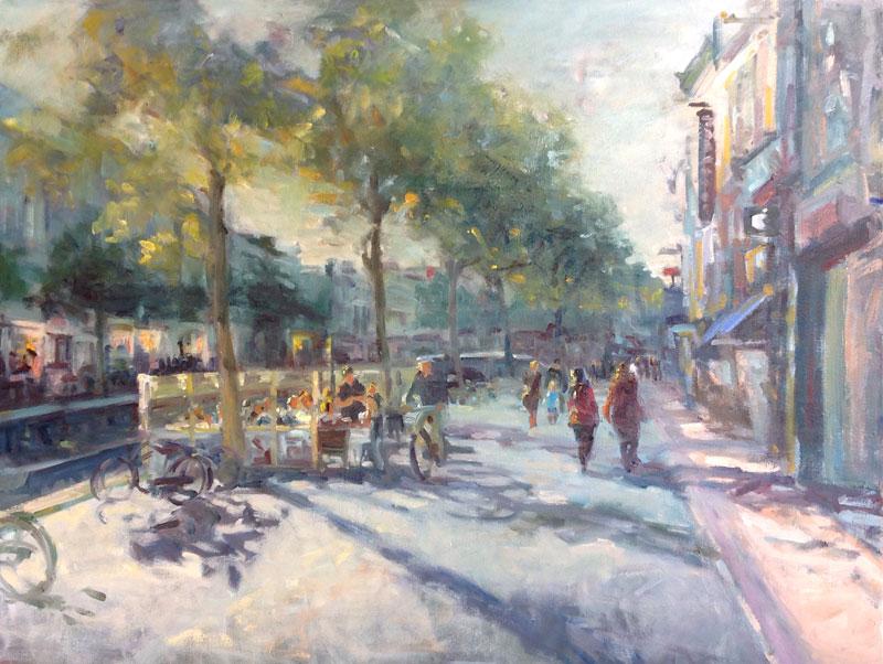 Stadsgezicht – Olieverf: Nieuwstad, Leeuwarden