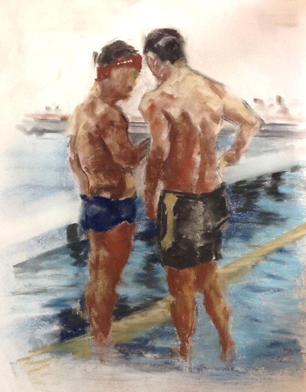 Portret – Pastel: twee mannen
