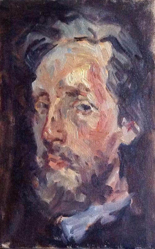 Olieverf: portret van een man